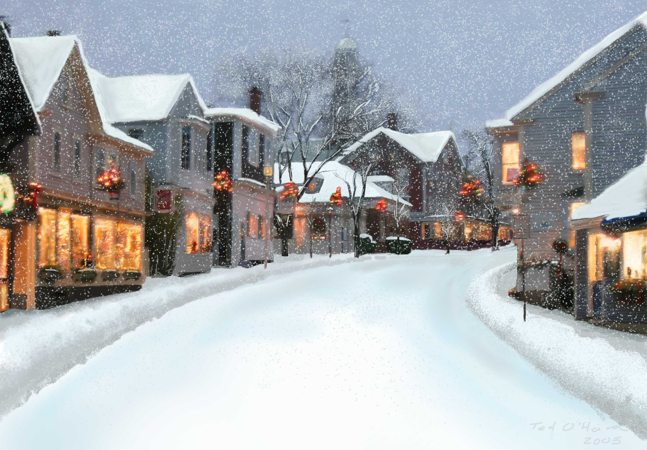 Snowy Rockport: my 2005 card