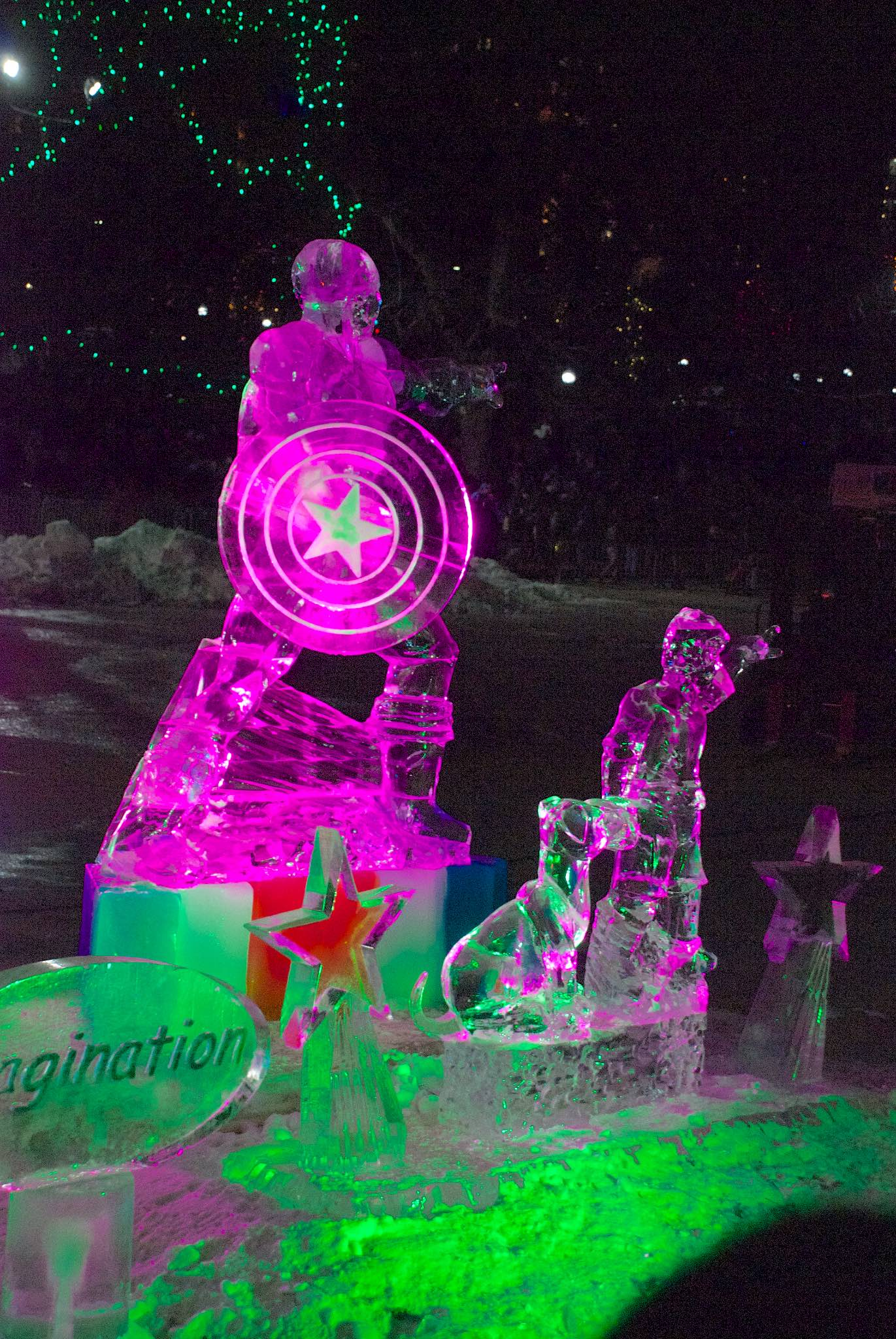 Captain America Ice Sculpture
