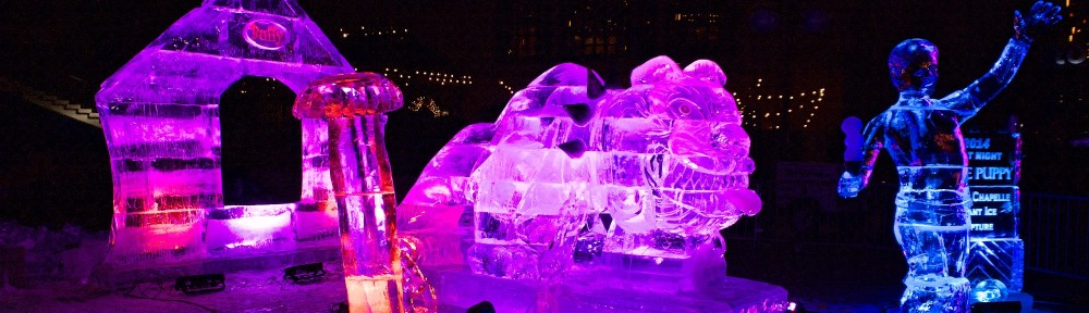 Ice Sulpture, First Night 2014