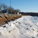 Ice at the Manchester-by-theSea boat ramp